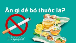 Để bỏ thuốc lá nên ăn gì